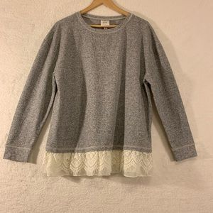 Knox Rose Lace Trim Sweater Size XL